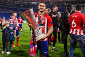 lyon france koke atletico madrid celebrates
