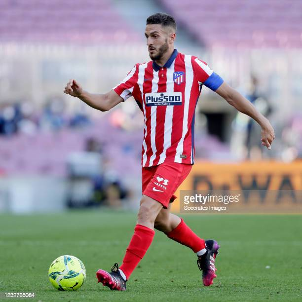 Koke of Atletico Madrid during the La Liga Santander match between FC Barcelona v Atletico Madrid at the Camp Nou on May 8, 2021 in Barcelona Spain