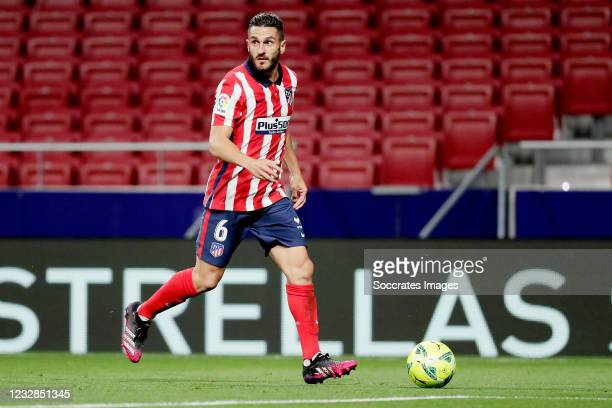 Koke of Atletico Madrid during the La Liga Santander match between Atletico Madrid v Real Sociedad at the Estadio Wanda Metropolitano on May 12, 2021...