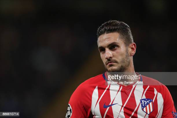 Koke of Atletico Madrid during the UEFA Champions League group C match between Chelsea FC and Atletico Madrid at Stamford Bridge on December 5 2017...