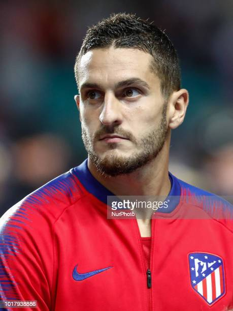 Koke of Atletico Madrid during the UEFA Super Cup match between Real Madrid and Atletico Madrid on August 15 2018 at Lillekula Stadium in Tallinn...