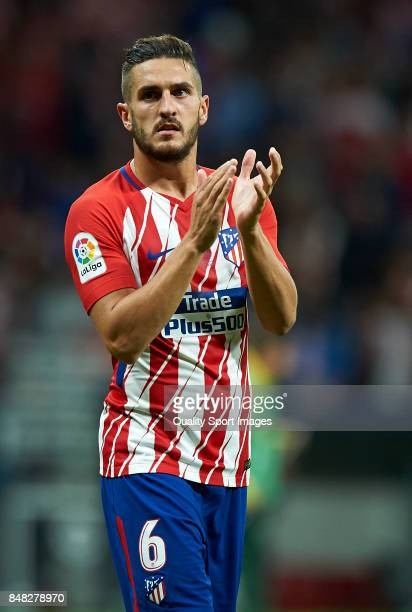 Koke of Atletico Madrid looks on at the end of the La Liga match between Atletico Madrid and Malaga at Wanda Metropolitano stadium on September 16...