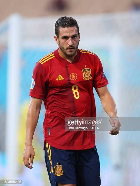 Koke of Spain looks on during the UEFA Euro 2020 Championship Group E match between Spain and Sweden at the La Cartuja Stadium on June 14, 2021 in...