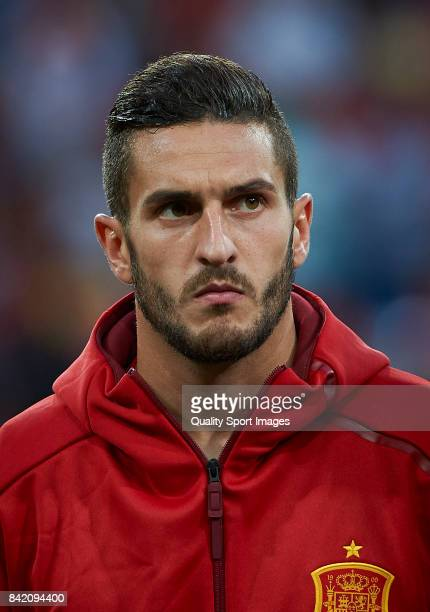 Koke of Spain looks on prior the FIFA 2018 World Cup Qualifier between Spain and Italy at Estadio Santiago Bernabeu on September 2 2017 in Madrid...