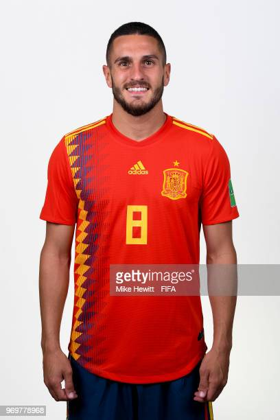 Koke of Spain poses for a portrait during the official FIFA World Cup 2018 portrait session at FC Krasnodar Academy on June 8 2018 in Krasnodar Russia