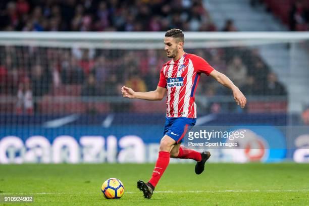 Koke Resurrección of Atletico de Madrid controls the ball during the La Liga 201718 match between Atletico de Madrid and Girona FC at Wanda...