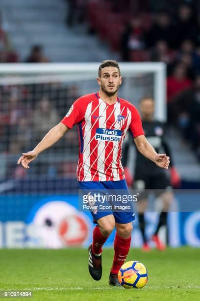 Koke Resurrección of Atletico de Madrid controls the the ball during the La Liga 201718 match between Atletico de Madrid and Girona FC at Wanda...