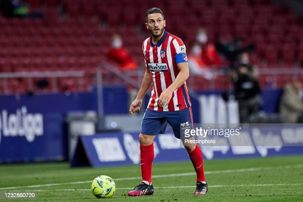 Koke Resurreccion of Atletico de Madrid during the La Liga match between Atletico de Madrid and Real Sociedad played at Wanda Metropolitano Stadium...