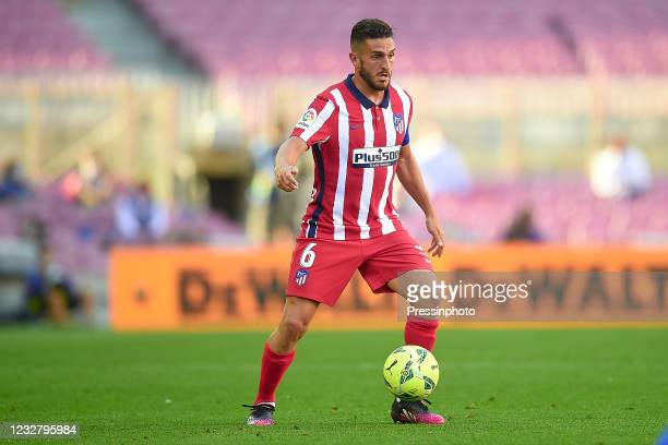 Koke Resurreccion of Atletico de Madrid during the La Liga match between FC Barcelona and Atletico de Madrid played at Camp Nou Stadium on May 8,...