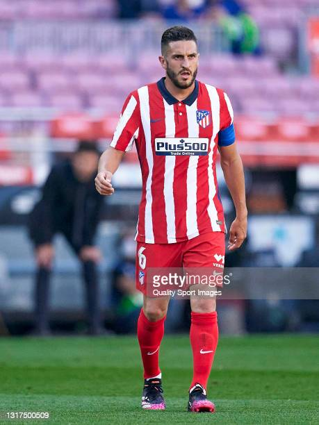 Koke Resurreccion of Atletico de Madrid looks on during the La Liga Santander match between FC Barcelona and Atletico de Madrid at Camp Nou on May...