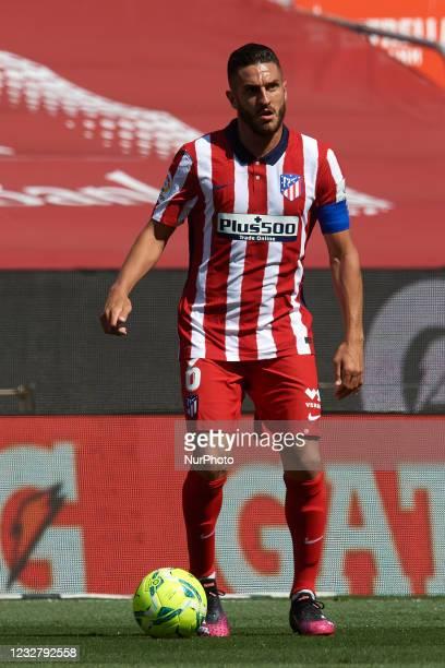 Koke Resurreccion of Atletico Madrid controls the ball during the La Liga Santander match between FC Barcelona and Atletico de Madrid at Camp Nou on...