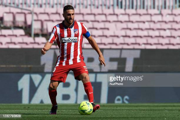 Koke Resurreccion of Atletico Madrid in action during the La Liga Santander match between FC Barcelona and Atletico de Madrid at Camp Nou on May 8,...