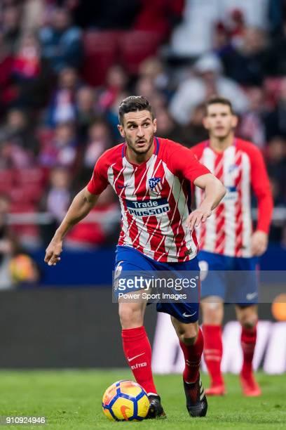 Koke Resurrection of Atletico de Madrid in action during the La Liga 201718 match between Atletico de Madrid and Girona FC at Wanda Metropolitano on...