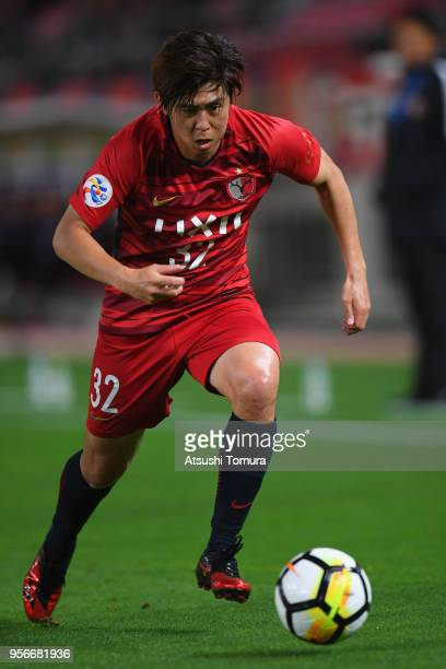 Koki Anzai of Kashima Antlers in action during the AFC Champions League Round of 16 first leg match between Kashima Antlers and Shanghai SIPG at...
