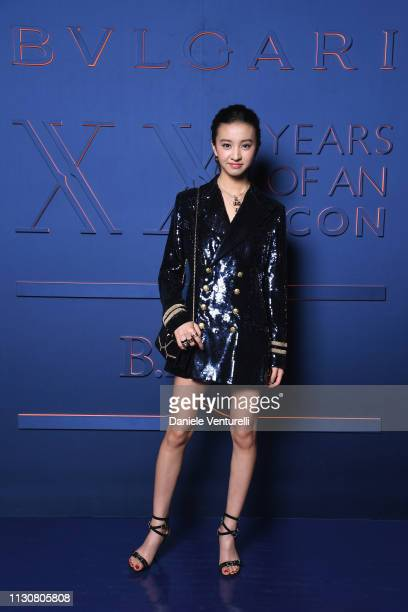 Koki attends the Bvlgari - B.ZERO1 XX Anniversary Global Launch Event at Auditorium Parco Della Musica on February 19, 2019 in Rome, Italy.