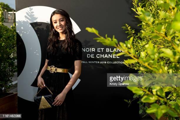 Koki attends the Noir et Blanc de Chanel Fall/Winter 2019 Makeup Collection Yachts De Paris on July 11 2019 in Paris France
