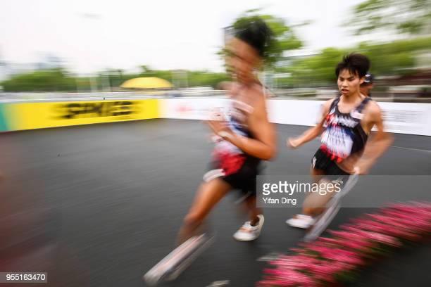 Koki Ikeda of Japan in action during Men's 20 kilometres Race Walk of IAAF World Race Walking Team Championships Taicang 2018 on May 6 2018 in...