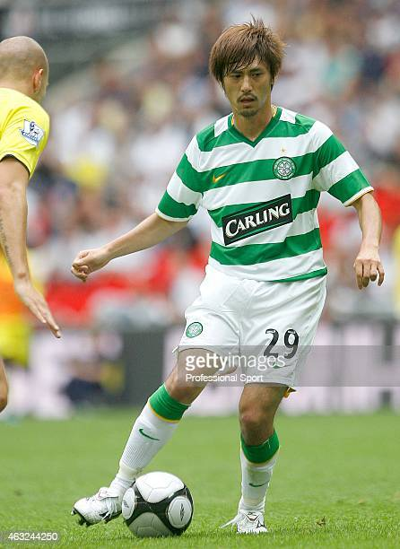 Koki Mizuno of Celtic in action during the Wembley Cup match between Celtic and Al Ahly at Wembley Stadium on July 24 2009 in London England