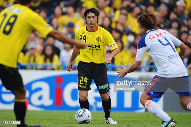 Koki Mizuno of Kashiwa Reysol in action during JLeague match between Kashiwa Reysol and Albirex Niigata at Hitachi Kashiwa Soccer Stadium on November...