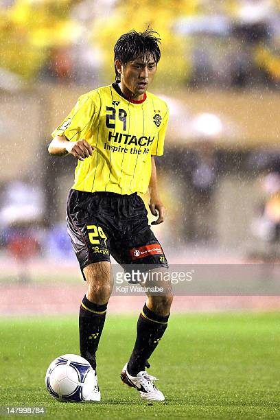 Koki Mizuno of Kashiwa Reysol in action during the JLeague match between Kashiwa Reysol and Nagoya Grampus at the National Stadium on July 7 2012 in...
