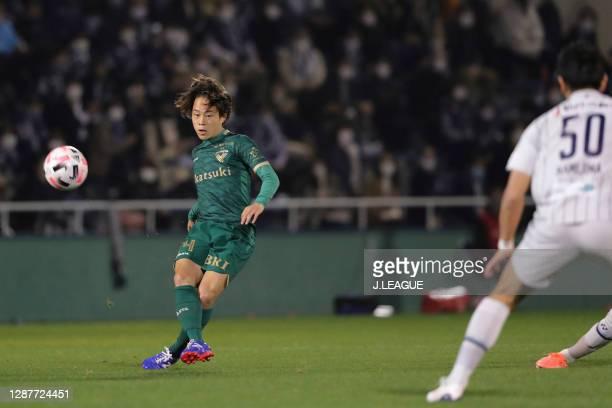 Koki MORITA of Tokyo Verdy in action during the J.League Meiji Yasuda J2 match between Tokyo Verdy and Avispa Fukuoka at Ajinomoto Field Nishigaoka...