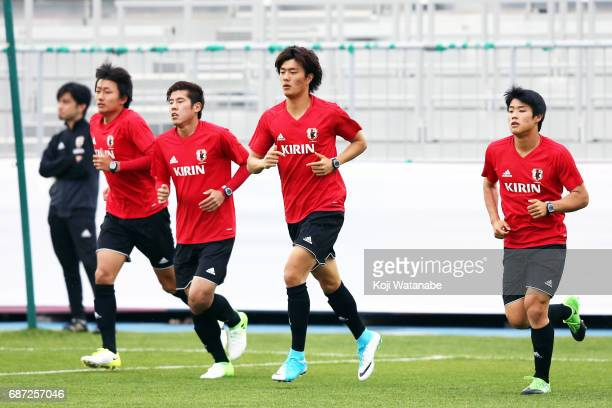 Koki Ogawa of Japan in action during a training session ahead of the FIFA U20 World Cup Korea Republic 2017 group D match against Uruguay on May 23...