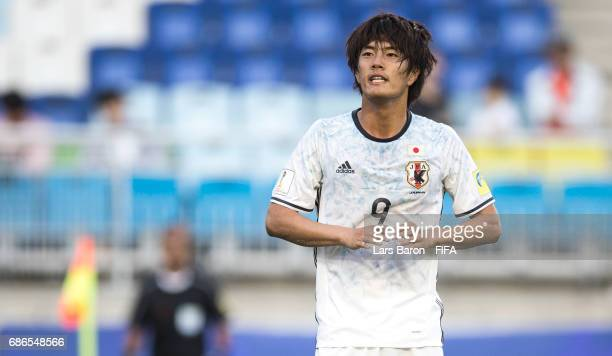 Koki Ogawa of Japan looks on during the FIFA U20 World Cup Korea Republic 2017 group D match between South Africa and Japan at Suwon World Cup...