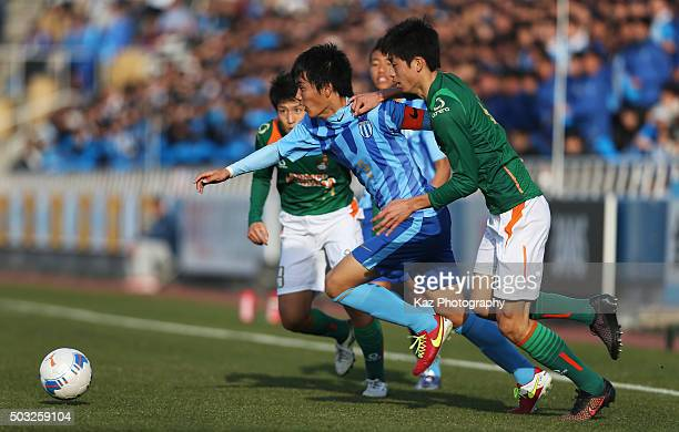 Koki Ogawa of Toko Gakuen in action during the 94th All Japan High School Soccer Tournament third round match between Toko Gakuen and Aomori Yamada...