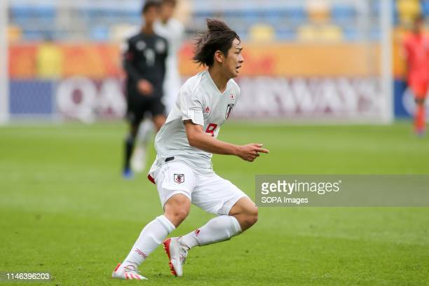Koki Saito from Japan seen in action during the FIFA U-20 World Cup match between Mexico and Japan in Gdynia. .