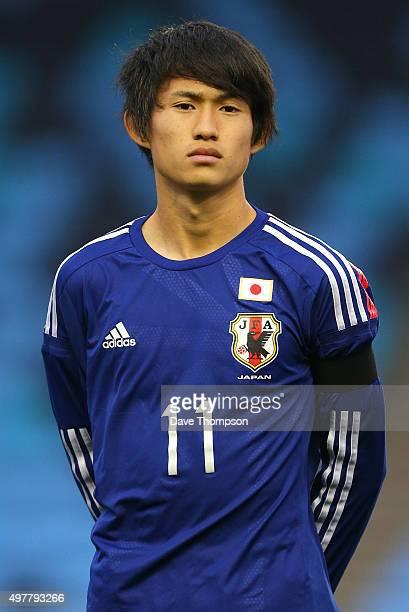 Koki Sugimori of Japan during the U19 International friendly match between England and Japan at Manchester City Academy Stadium on November 15, 2015...