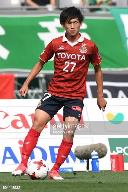 Koki Sugimori of Nagoya Grampus in action during the J.League J2 match between Tokyo Verdy and Nagoya Grampus at Ajinomoto Stadium on June 10, 2017...