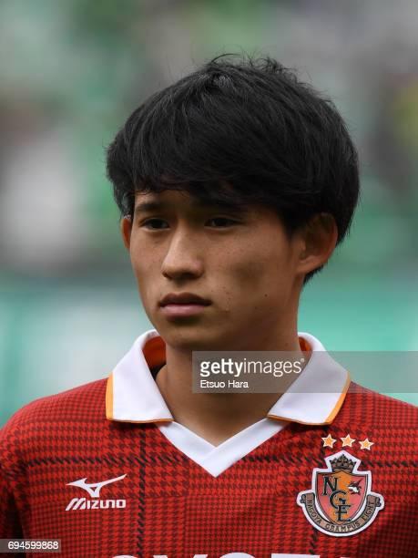 Koki Sugimori of Nagoya Grampus looks on prior to the J.League J2 match between Tokyo Verdy and Nagoya Grampus at Ajinomoto Stadium on June 10, 2017...