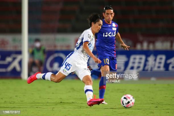 Koki SUGIMORI of Tokushima Vortis in action during the J.League Meiji Yasuda J2 match between Ventforet Kofu and Tokushima Vortis at the Yamanashi...