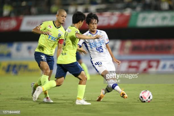Koki SUGIMORI of Tokushima Vortis in action during the J.League Meiji Yasuda J2 match between Tochigi SC and Tokushima Vortis at the Tochigi Green...