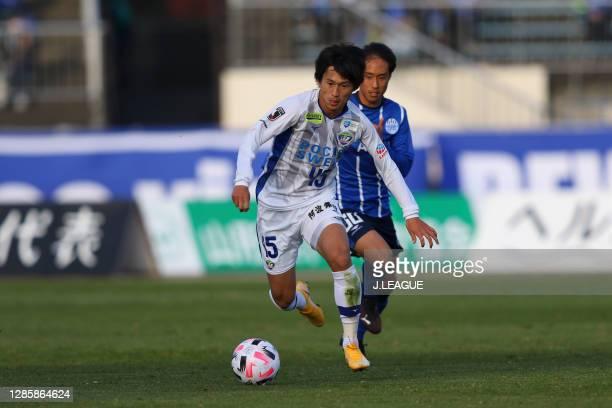 Koki SUGIMORI of Tokushima Vortis in action during the J.League Meiji Yasuda J2 match between Montedio Yamagata and Tokushima Vortis at NDSoft...