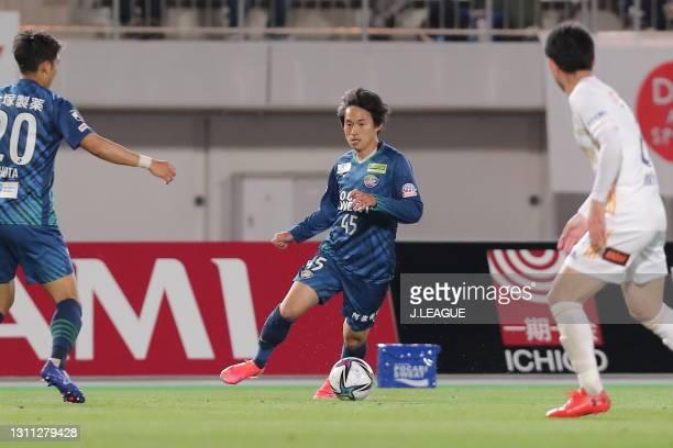 Koki SUGIMORI of Tokushima Vortis in action during the J.League Meiji Yasuda J1 match between Tokushima Vortis and Vegalta Sendai at Pocari Sweat...