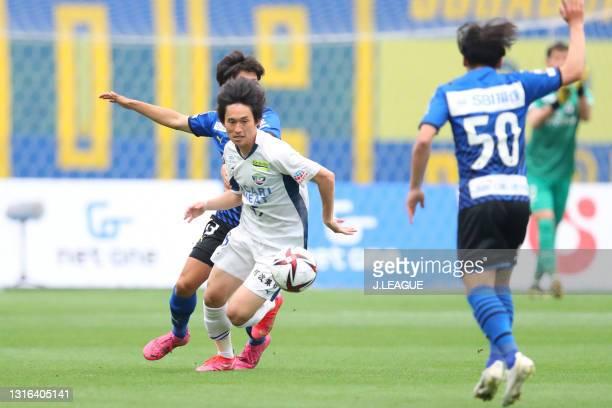 Koki SUGIMORI of Tokushima Vortis in action during the J.League YBC Levain Cup Group B match between Oita Trinita and Tokushima Vortis at Showa Denko...