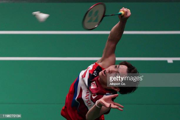Koki Wanatabe of Japan in action during Day 2 of the Malaysia Master at the Axiata Arena on January 08 2020 in Kuala Lumpur Malaysia
