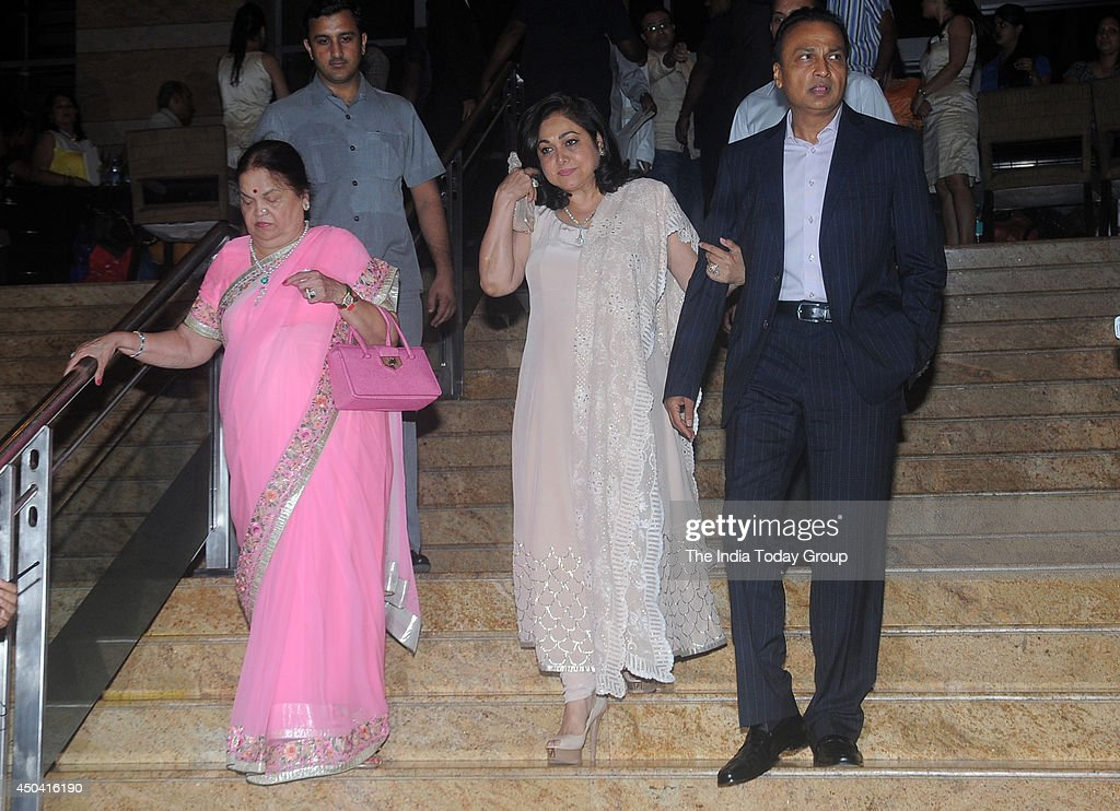 Kokilaben Ambani Tina And Anil Arrive At The Launch Of Legendary Actor Dilip