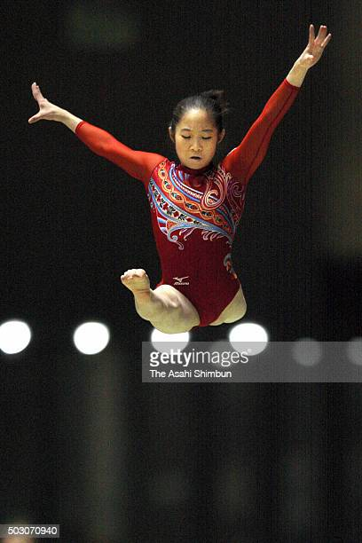 Koko Tsurumi competes in the Balance Beam of the Women's AllAround during day two of the 60th All Japan Artistic Gymnastics Championships at Yoyogi...