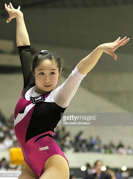 Koko Tsurumi competes in the Floor during day three of the All Japan Artistic Gymnastics Individual All Around Championships at Yoyogi National...