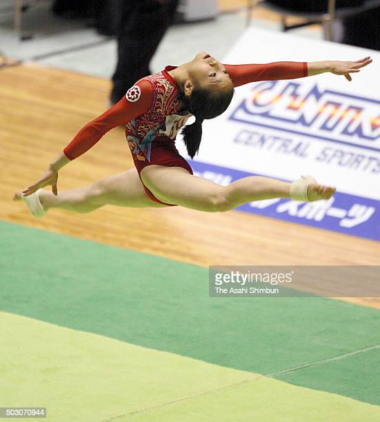 Koko Tsurumi competes in the Floor of the Women's AllAround final during day two of the 60th All Japan Artistic Gymnastics Championships at Yoyogi...