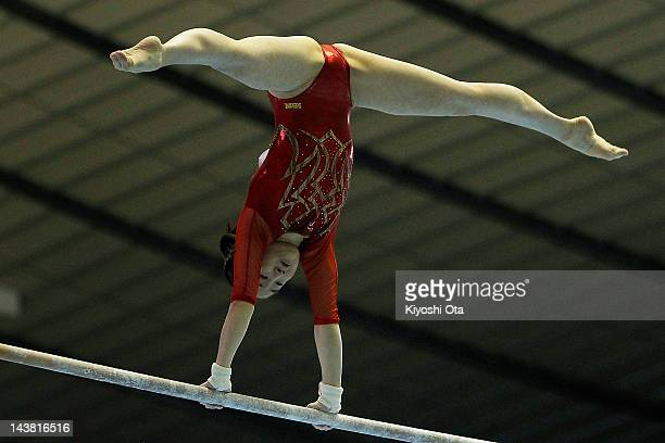 Koko Tsurumi competes in the Women's Uneven Bars during day one of the 51st Artistic Gymnastics NHK Trophy at Yoyogi National Gymnasium on May 4 2012...