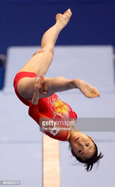 Koko Tsurumi of Japan competes in the Balance Beam during the Artistic Gymnastics Japan Cup at Makuhari Messe on July 19 2009 in Chiba Japan