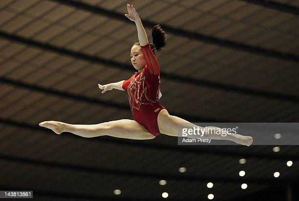 Koko Tsurumi of Japan performs her balance beam routine during day one of the 51st Artistic Gymnastics NHK Trophy at Yoyogi National Gymnasium on May...