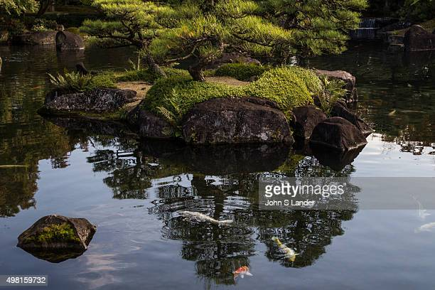 Kokoen is a relatively modern Japanese garden opened in 1992 on the former site of of the feudal lord's west residence NishiOyashiki at Himeji Castle...