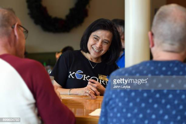 Kokoro waitress Lenny Sentiono has work there for 25 years talks with customers on December 29 2017 in Denver Colorado The second of four hikes on...
