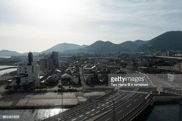 Kokura in Kitakyushu city in Japan in the morning