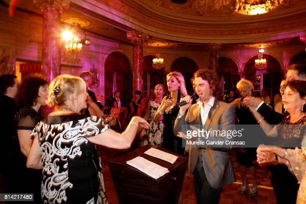 Kol Esperanza perfroms during the Friends Of Sheba Medical Center 'DRINKDANCEDONATE' event at Hotel Hermitage on July 12 2017 in Monaco Monaco