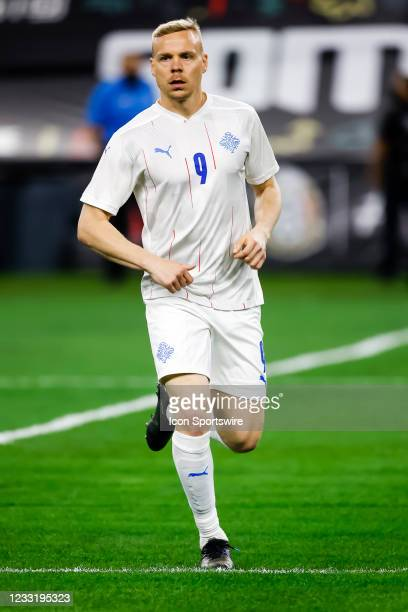 Kolbeinn Sigthorsson in action during the game between Mexico and Iceland on May 29, 2021 at AT&T Stadium in Arlington, Texas.